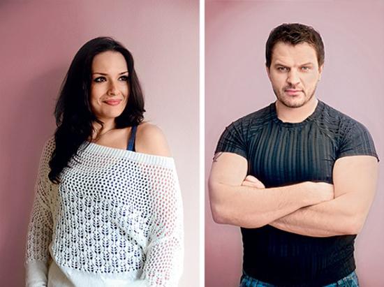 Андрей Биланов с женой Анжеликой